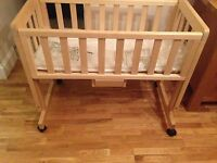 Troll bedside crib / co-sleeper - natural colour