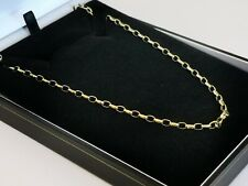 "Gold BELCHER chain DIAMOND CUT oval LINKS 9ct 375 yellow 18.5"" necklace 8g"