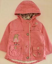 NEXT Jacke Gr. 104 110 116 Erdbeermaus Strawberry Bunny rosa Parka Mantel rosa