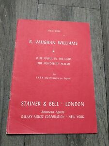 Vintage Sheet music - Stainer & Bell VAUGHAN WILLIAMS - O BE JOYFUL IN THE LORD