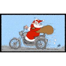 Türmatte Abtreter Weihnachtsmann auf Motorrad - Uli Stein Fußabstreifer Cartoon
