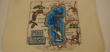 Lake Tahoe Painted 100% Cotton Canvas Shopping Tote Bag Reusable Heavy Duty
