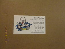 NAHL Alexandria Blizzard Junior A Hockey Club Busines Card