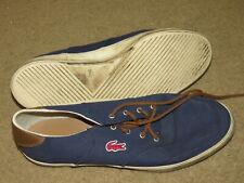 VGC LaCoste Glendon 2 blue canvas / fabric deck / boat shoes - mens 11
