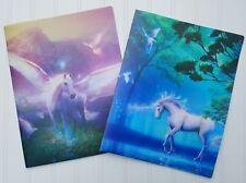 Unicorn Pegasus Folder ~ Beautiful Fantasy Folder Durable Forest Sky ~ 1 or Set