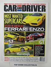 Car and Driver Magazine    July  2003    Ferrari Enzo/Lambo Murcielago