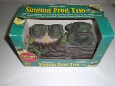 Vintage Gemmy Interactive Frog Singing Trio 'Joy to the World' New in Box 2001