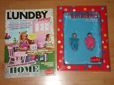 Puppenhaus Babies - 2 Baby Puppen von LUNDBY +  Katalog / Magazin