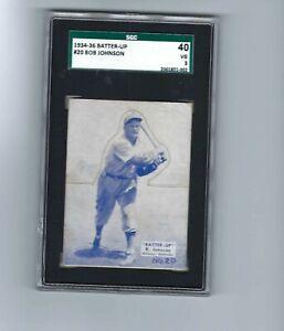 1934 - 36 Batter Up  # 20  Bob Johnson   SGC 3