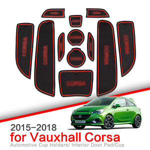 for Opel VAUXHALL Corsa 2015 - 2018 Gate slot Cup Mat Anti-Slip Pad Car Styling