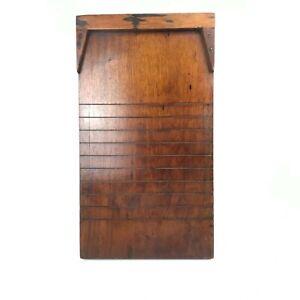 Antique Vintage Shove Ha'penny Board Only Good Condition Dark Wood Mahogany Pub