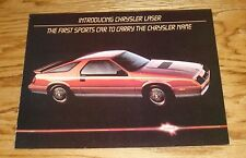 Original 1984 Chrysler Laser Foldout Sales Brochure 84