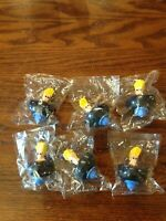 New Lot Of 6 Sealed Top Johnny Bravo Cartoon Network Kelloggs Vintage 2003