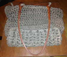 SUSAN RIEDWEG ORIGINAL CREATION, WOVEN BAG, SUEDE INSIDE