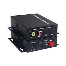 1 Audio Fiber optic Media Converter for Broadcast system(Tx/Rx) Kit Bidirection