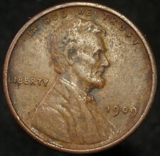 1909 VDB Lincoln Wheat Penny Cent  XF Details Free Mult Shipping (D 1770)