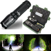 5000 Lumens Zoomable 5 Modes XML T6 LED Flashlight Torch Lamp+18650+Charger+Case