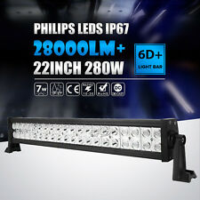 22INCH 280W LED Work Light Bar Spot Flood 4WD Boat Driving Truck Offroad VAN 24""