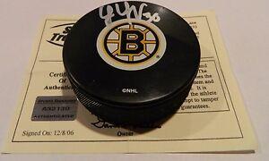 Tim Thomas Boston Bruins Signed Autographed Auto Puck w/ COA AUTHENTIC