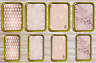 Rose Gold Pink Geometric Metal Tobacco 1oz 2oz Stash Storage Pill Tin Gift