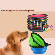 Portable Collapsible Silicone Cat Dog Pet Feeding Bowl Water Dish Feeder Travel