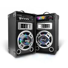 NEW Pyle PSUFM826LED Disco Jam Dual USB/SD/MP3/FM Speaker System Flashing Lights