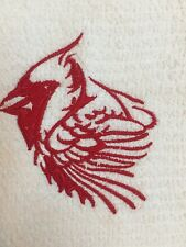 Embroidered Kitchen Bar Hand Towel - RED CARDINAL BIRD   BS 1095