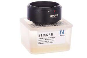 Novoflex Canon FD to Sony adaptor, NEX/CAN, almost mint, 6 month guarantee