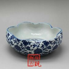 Chinese old porcelain blue and white porcelain Brush wash