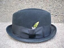 Vintage Royal Stetson Green Fedora Felt Cap Hat With Ribbon Size 7 Made in USA