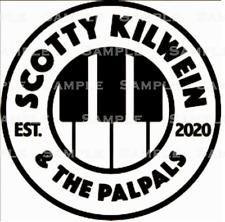 SCOTTY KILWEIN & THE PALPALS official logo, t-shirt iron-on, perm vinyl decal