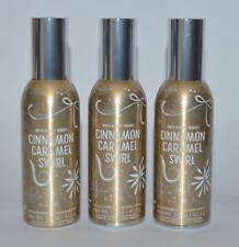 3 BATH & BODY WORKS CINNAMON CARAMEL SWIRL CONCENTRATED ROOM SPRAY MIST PERFUME