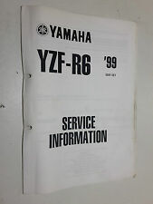 GENUINE YAMAHA YZFR6 YZF-R6 YZFR-6 1999 - WORKSHOP SERVICE INFORMATION MANUAL