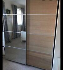 ikea pax wardrobe sliding door Panels X4  Oak Veneer 236x100