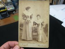 Antique Cabinet Card 165x108mm - Two Young Ladies Lyall Montrose