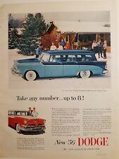1956 Blu Dodge 8 Passeggeri Personalizzato Sierra V8 Station Wagon Carrozze