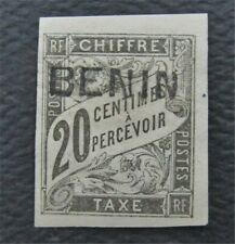 nystamps France Benin Stamp # J3 MOG $175     O22y3296