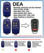 DEA 433-1, 433-2, 433-4 Remote Control Duplicator 4-Channel 433.92MHz.