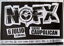 NOFX 2012 SANTIAGO, CHILE CONCERT TOUR POSTER - Band's Logo Above Concert Info