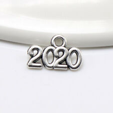 20 Or 50PCs 2020 Charms 14mm Antiqued Silver Plated Year Pendants C3585-10