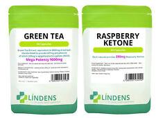 60 Raspberry Ketone & 60 Green Tea Extract 9000MG Diet Weight Loss Slimming Pack