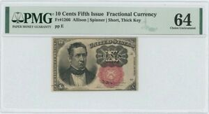 Fifth Issue 10C Fractional FR#1266 PMG CH Unc MS64
