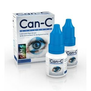 CAN-C Eye Drops for CATARACT 2 x 5ml Lubricant Eye Drops with N- Acetylcarnosine