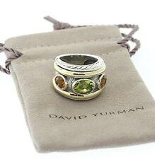DAVID YURMAN Sterling Silver 14k Gold Peridot & Citrine Renaissance Ring w/pouch