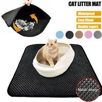 Waterproof Urine Cat Litter Mat Trapper Sifting Foldable Pad Pet Rug Home XS-XL