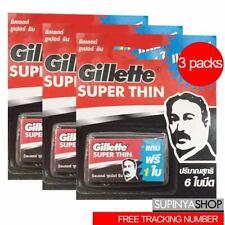 3 Packs Gillette SUPER THIN RAZOR BLADES DOUBLE EDGED SAFETY SHAVING