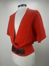 Derek Heart Red orange Knit Top Size M