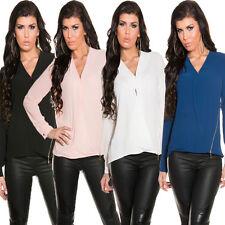 Lockre Sitzende Damenblusen,-Tops & -Shirts mit V-Ausschnitt für Business