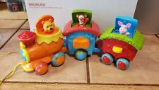 Mattel Winnie the Pooh Pull Along PopUp Train Musical Sounds RARE good condition