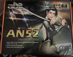 ABIT AN52 AMD ATX AM2 NVIDIA nForce 520 motherboard w/ box manual i/o shield